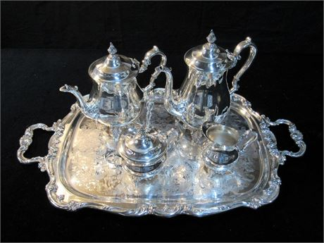 Gorham 6 Piece Tea and Coffee Silver-Plate Service