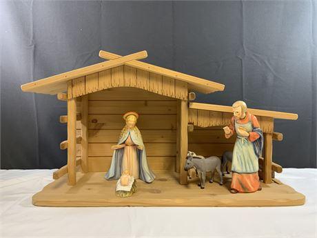 (7) Piece Vintage Goebel Hummel Nativity Scene