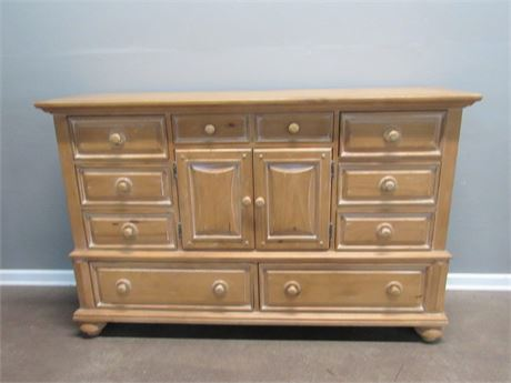 Broyhill Rustic Pine Style Tall Dresser