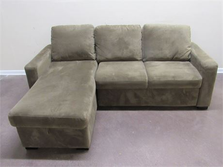 NICE CHAISE/SLEEPER SOFA SECTIONAL WITH STORAGE