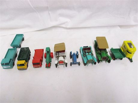 LOT OF CLASSIC METAL VEHICLES BY LESNEY