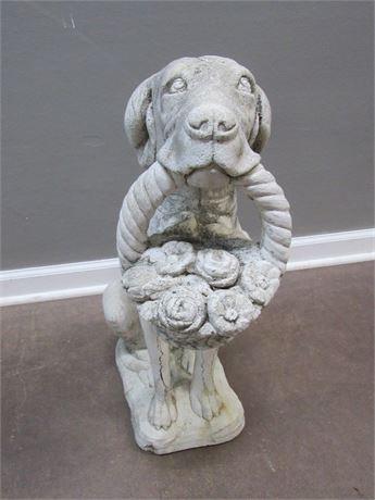 Cast Concrete Dog Statue