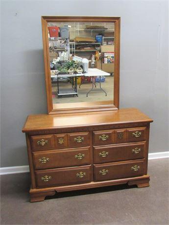 6 Drawer Bassett Dresser with Mirror