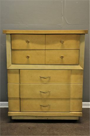 Mid Century 5 drawer high boy dresser by Basic Line