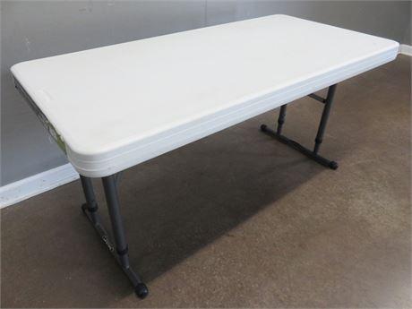 LIFETIME 4 ft. Adjustable Height Folding Table