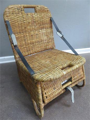 Vintage Wicker Canoe Seat