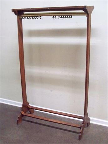 WOOD CLOTHES/COAT RACK WITH SHOE RACK