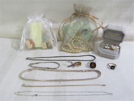 Vintage Misc. Jewelry Lot - over 14 Pieces - Gold Filled, Pearls & Sterling