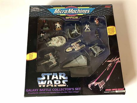 Limited Edition Star Wars Micro Machines Miniatures