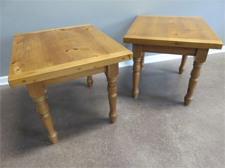 Knotty Pine End Tables