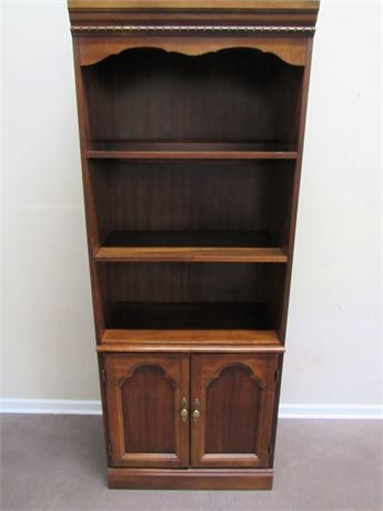 CHERRY FINISHED DISPLAY/BOOKCASE