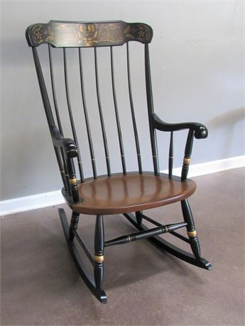Stenciled Spindle-Back Rocking Chair