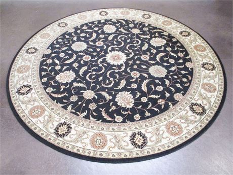 LOVELY 8' ROUND AREA RUG