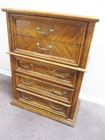 BASSETT TALL CHEST OF DRAWERS