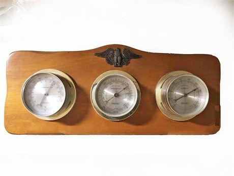 Vintage Mid Century Springfield Barometer