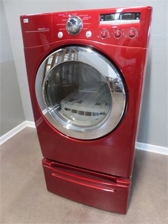 LG Gas Dryer with Pedestal Drawer