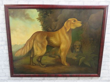 Antique Canvas Oil Painting - Reginald Baxter (Signed)