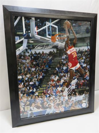 DOMINIQUE WILKINS Signed 16X20 Photo w/STEINER Certificate of Authenticity