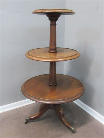 Great Looking Vintage Dumb Waiter on Casters