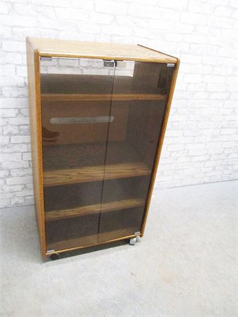 VINTAGE STEREO CABINET ON CASTERS