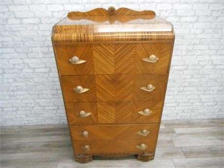 GREAT LOOKING WATERFALL CHEST OF DRAWERS