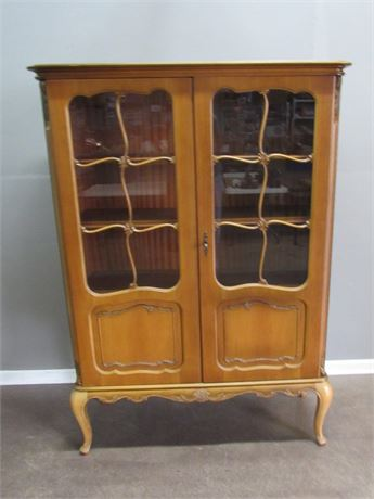 Vintage French Provincial China Hutch
