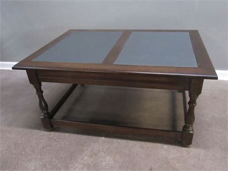 Coffee Table with 2 Slate Style Inserts