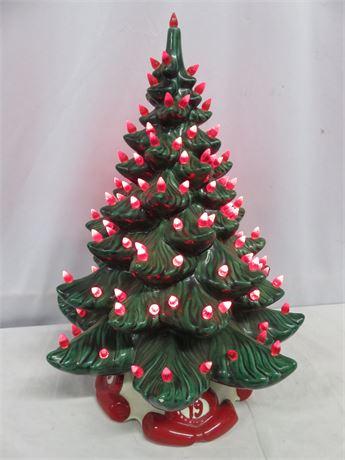 Ceramic Lighted Christmas Tree