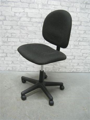 ADJUSTABLE FABRIC BLACK OFFICE CHAIR