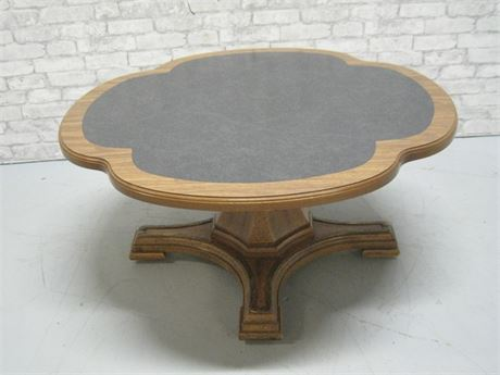 ADJUSTABLE HEIGHT CLOVER SHAPED PEDESTAL COFFEE/DINING TABLE