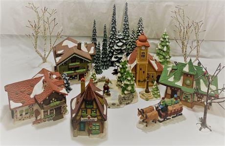 Vintage lighted Christmas Village