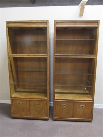 2 PASSAGE BY DREXEL DISPLAY CABINETS