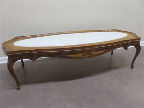GORDONS French Provincial Marble Top Coffee Table