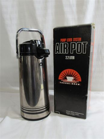 TECHNI-BREW PUMP LEVER AIR POT CARAFE