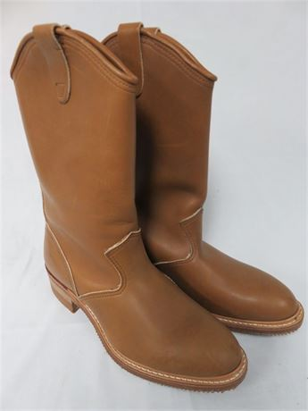 CAROLINA BOOTS Men's Leather Western Boots - SIZE 10.5EE