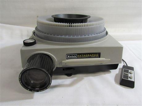Vintage Kodak Ektagraphic Carousel Slide Projector with Corded Remote