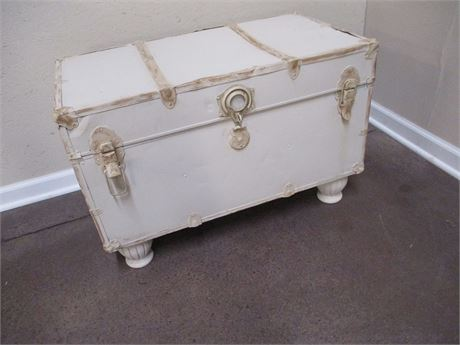 VINTAGE PAINTED TRUNK COFFEE TABLE