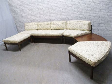 "MID-CENTURY MODERN CAROLINA HICKORY SECTIONAL ""CRYSTAL PALACE"""