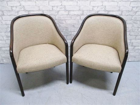 2 NEUTRAL SIDE CHAIRS