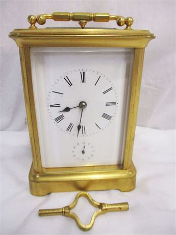 VINTAGE CARRIAGE CLOCK BY SHREVE, CRUMP & LOW