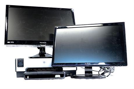 ViewSonic Monitors and HP Printer