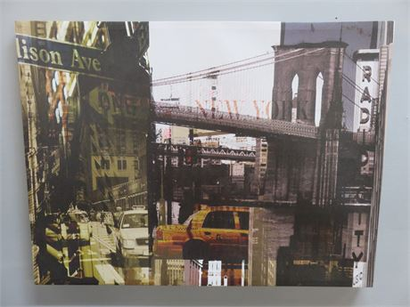 RORY GULLAN New York Canvas Collage Print