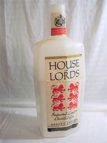 LARGE VINTAGE BOOTH'S HOUSE OF LORDS GIN ADVERTISING CHILLER/COOLER