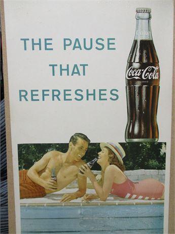 1940s Rock Hudson Coca-Cola Advertising Poster