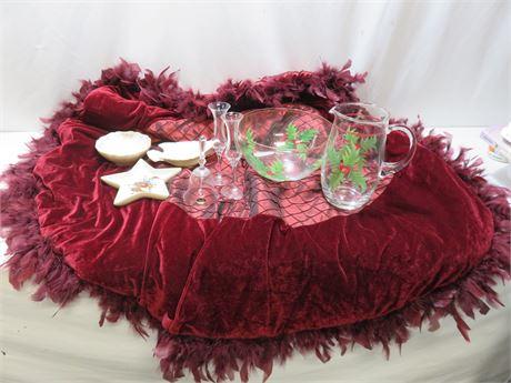 Holiday Tableware with Lenox & Velvet Tree Skirt