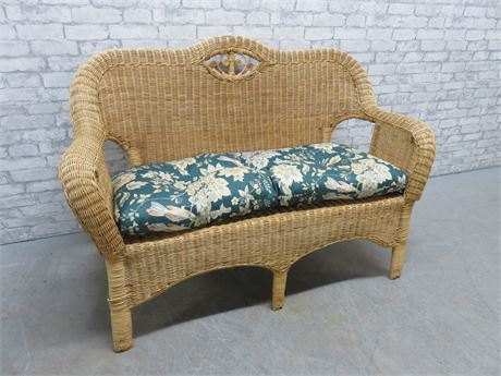 Wicker Loveseat Bench