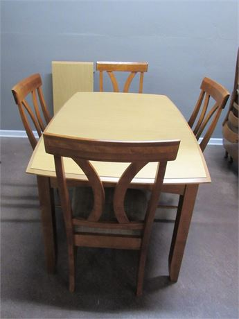 Dining Table with 4 Chairs and a Leaf