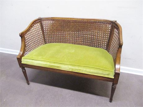 LOVELY CANE-BACK SETTEE
