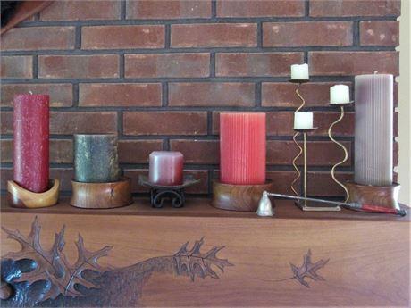 7 Piece Decorative Candle Lot