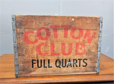 Vintage Wood Cotton Club Crate